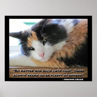 Poster Calicot Flirty avec la citation Meme d'Abraham