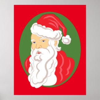 Poster Camée du père noël de Noël