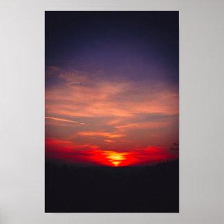 Poster camera bavarian les hivers pinhole sunset