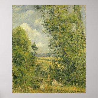Poster Camille Pissarro | un repos dans le pré