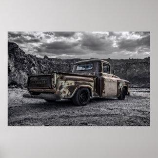 Poster Camion 1956 de collecte customisé par C10 de