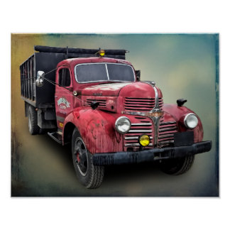 POSTER CAMION VINTAGE