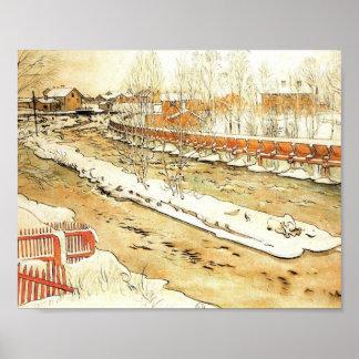 Poster Canal dans la neige