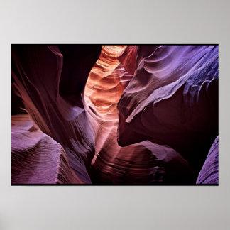 Poster Canyon coloré de fente