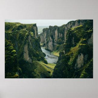 Poster Canyon de Fjaðrárgljúfur