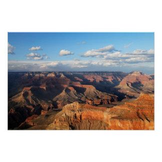 Poster Canyon grand vu de la jante du sud en Arizona