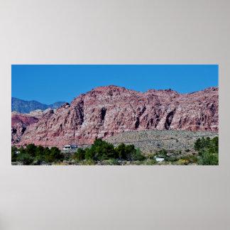 Poster Canyon rouge Las Vegas de roche