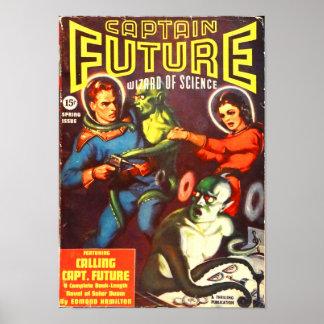 Poster Capitaine Future et les hommes de tentacule