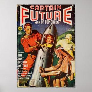 Poster Capitaine Future -- le monde perdu du temps