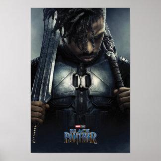 Poster Caractère de la panthère noire | Erik Killmonger