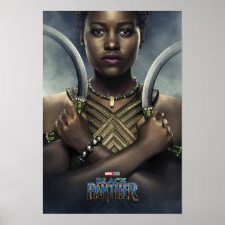Poster Caractère de la panthère noire | Nakia