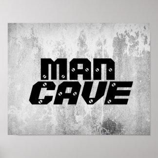 Poster caractères gras d'affiche de citation de caverne