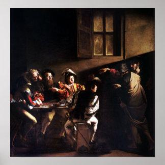 Poster Caravaggio appeler de St Matthew