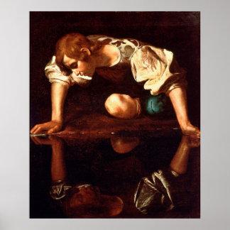 Poster CARAVAGGIO - Narcisse 1598