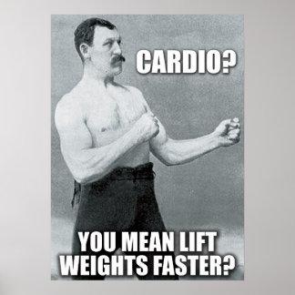 Poster Cardio- - soulevez les poids plus rapidement -