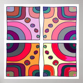 """Poster carré extra grand modèle """"Bubble Gum Art 2"""" Posters"""