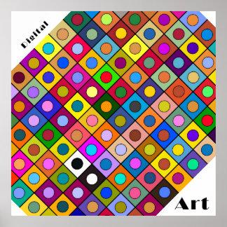 "Poster carré Fantaisie II ""Digital Art"" Posters"