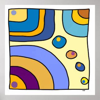 """Poster carré, grand modèle, """"Bubble Gum Art"""""""