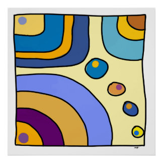 """Poster carré, grand modèle, """"Bubble Gum Art"""" Posters"""