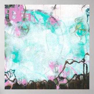Poster Carrefours - art abstrait carré