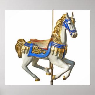 Poster Carrousel de cheval