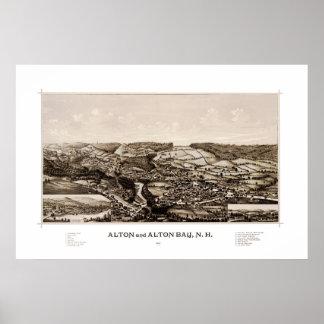 Poster Carte d'Alton New Hampshire en 1888