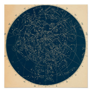 Poster Carte de constellations d'astronomie