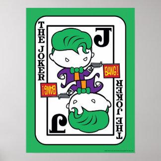Poster Carte de jeu de joker de Chibi