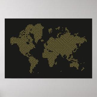 Poster Carte du monde de Digitals