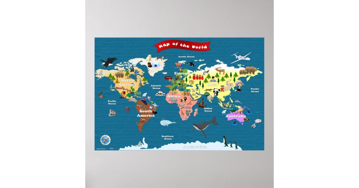 Poster carte du monde pour des enfants les explorons - Poster carte du monde ikea ...