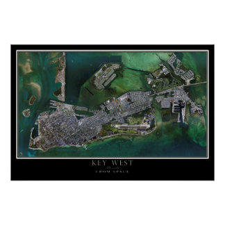 Poster Carte satellite d'affiche de Key West la Floride