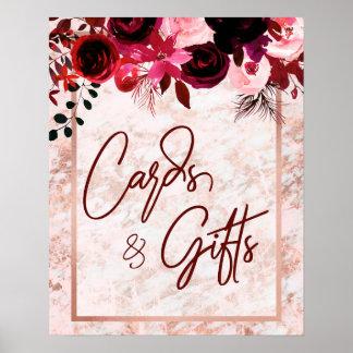 Poster Cartes de Bourgogne cadeaux floraux et roses de