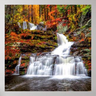 Poster Cascade d'automne