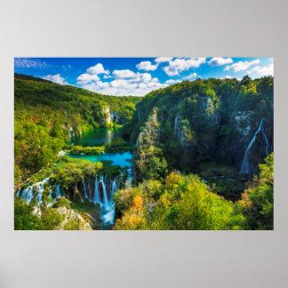 Poster Cascade élégante pittoresque, Croatie