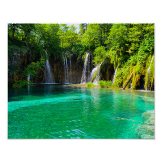 Poster Cascades au parc national de Plitvice en Croatie