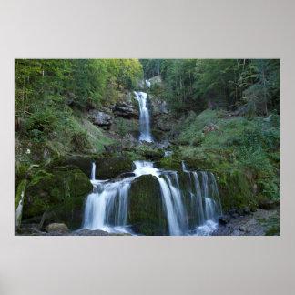 Poster Cascades débordantes douces