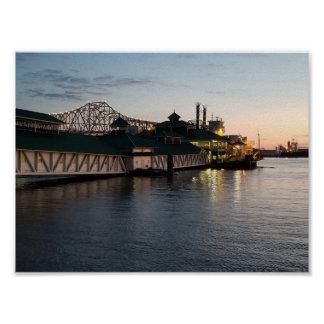 Poster Casino sur l'affiche du fleuve Mississippi