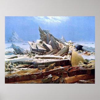 Poster CASPAR DAVID FRIEDRICH - la mer de la glace 1824