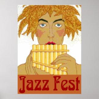 Poster Casserole de Fest de jazz sur la cannelure