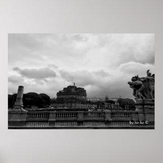 Poster Castel Sant'Angelo, Rome, Italie