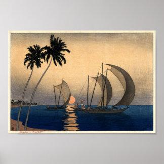 Poster Catamarans dans une brise crépusculaire