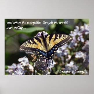 Poster Caterpillar à l'affiche de machaon de tigre de