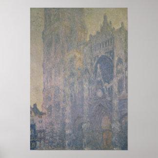 Poster Cathédrale de Claude Monet | Rouen, harmonie dans