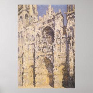Poster Cathédrale de Rouen, or bleu d'harmonie par Claude