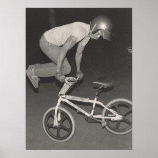 Poster Cavalier de style libre de la vieille école BMX,