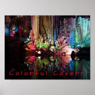 Poster Caverne colorée