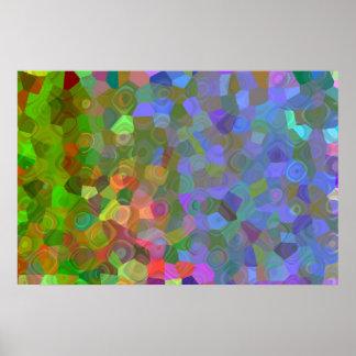 Poster Célébration de couleur