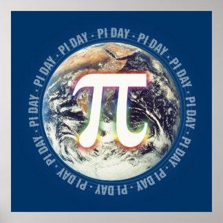 Poster Célébrez le jour de pi sur des maths de la terre |