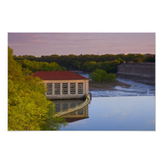 Poster Centrale électrique et barrage de Highland Park