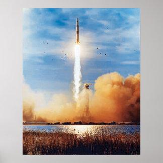 Poster Centre Spatial Kennedy de lancement de la NASA